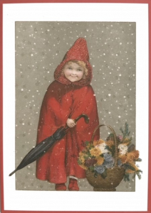 Postkarte Sortiment Weihnachten beglittert 6Wg081