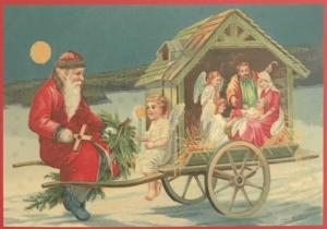Postkarte Sortiment Weihnachten beglittert 6Wg089