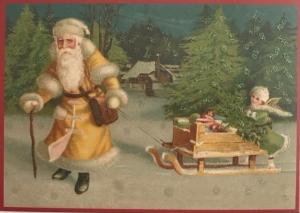Postkarte Sortiment Weihnachten beglittert 6Wg082