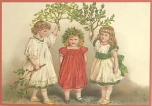 Postkarte Sortiment Weihnachten beglittert 6Wg075