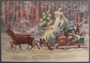 Postkarte Sortiment Weihnachten beglittert 6Wg090
