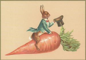 Postkarte Sortiment vermenschlichte Tiere geprägt 6Vp007