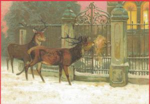 Postkarte Sortiment Weihnachten beglittert 6Wg084