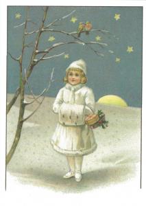 Postkarte Sortiment Weihnachten beglittert 6Wg020