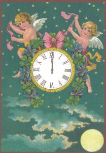 Postkarte Sortiment Weihnachten beglittert 6Wg094