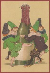 Postkarte Sortiment Weihnachten beglittert 6Wg092