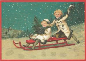 Postkarte Sortiment Weihnachten beglittert 6Wg096