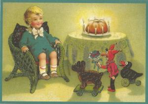 Glückwunschpostkarte beglittert 6Gg095