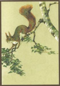 Glückwunschpostkarte beglittert 6Gg112