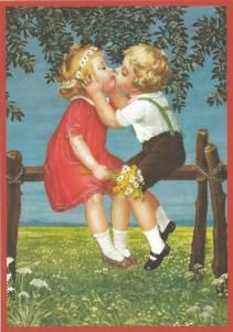 Glückwunschpostkarte beglittert 6Gg069
