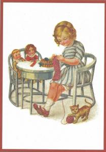 Glückwunschpostkarte beglittert 6Gg104