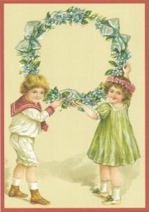 Glückwunschpostkarte beglittert 6Gg107