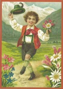 Glückwunschpostkarte beglittert 6Gg110