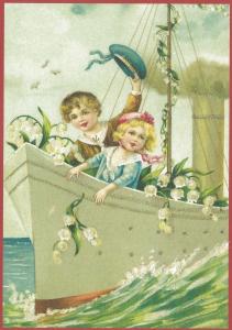Glückwunschpostkarte beglittert 6Gg103