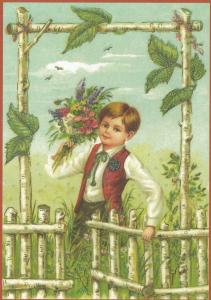 Glückwunschpostkarte beglittert 6Gg102