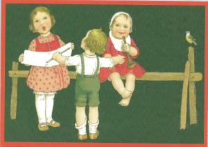 Glückwunschpostkarte beglittert 6Gg111