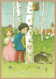 Glückwunschpostkarte beglittert 6Gg114