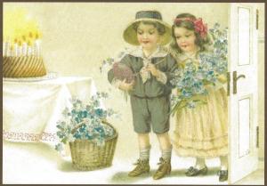 Glückwunschpostkarte beglittert 6Gg113