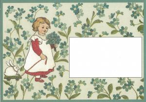 Glückwunschpostkarte beglittert 6Gg087