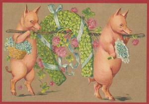 Postkarte Sortiment Weihnachten beglittert 6Wg098
