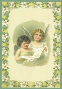 Postkarte Sortiment Weihnachten beglittert 6Wg106