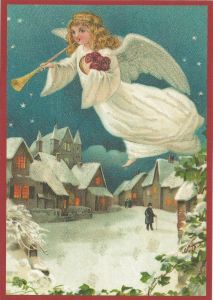 Postkarte Sortiment Weihnachten beglittert 6Wg095