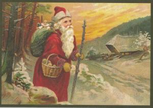 Postkarte Sortiment Weihnachten beglittert 6Wg097