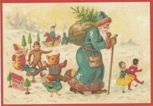 Postkarte Sortiment Weihnachten beglittert 6Wg103