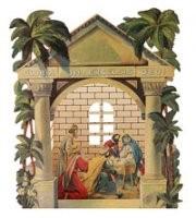 Weihnachtskrippe römisches Portal