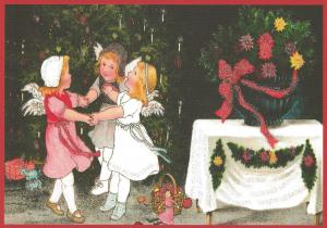Postkarte Sortiment Weihnachten beglittert 6Wg110