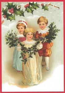 Postkarte Sortiment Weihnachten beglittert 6Wg107