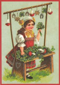 Postkarte Sortiment Weihnachten beglittert 6Wg108
