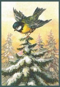 Postkarte Sortiment Weihnachten beglittert 6Wg112