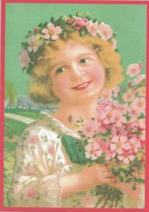Glückwunschpostkarte beglittert 6Gg122