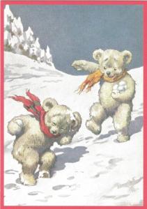 Postkarte vermenschlichte Tiere (A6) ohne unveredelt 6Vn028