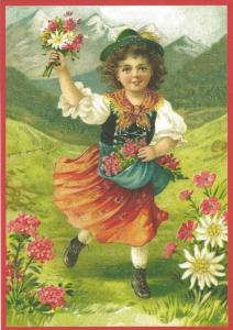 Glückwunschpostkarte beglittert 6Gg116