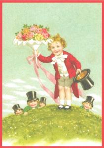 Glückwunschpostkarte beglittert 6Gg139