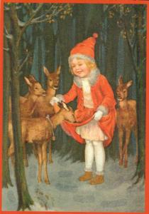 Postkarte Sortiment Weihnachten beglittert 6Wg121