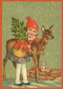 Postkarte Sortiment Weihnachten beglittert 6W122