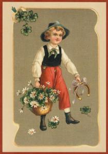 Postkarte Sortiment Glückwunsch geprägt 6Gp147