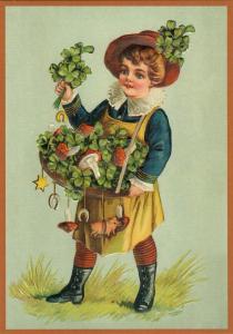 Postkarte Sortiment Glückwunsch geprägt 6Gp135