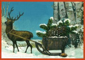 Postkarte Sortiment Weihnachten beglittert 6Wg114