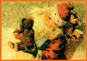Postkarte Sortiment Weihnachten beglittert 6Wg116