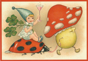 Postkarte Sortiment Weihnachten beglittert 6Wg115
