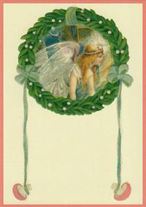 Postkarte Sortiment Weihnachten beglittert 6Wg101