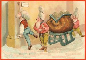 Postkarte Sortiment Weihnachten beglittert 6Wg105