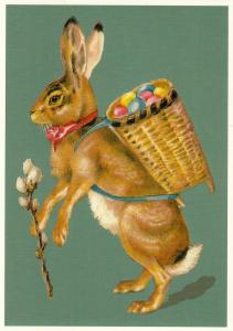 Postkarte vermenschlichte Tiere geprägt 6Vp001