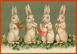 Postkarte vermenschlichte Tiere geprägt 6Vp040