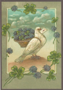 Glückwunschpostkarte beglittert 6Gg117