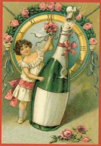 Glückwunschpostkarte beglittert 6Gg042